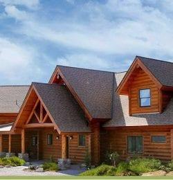 Courtwood Inn Log Cabin Exterior
