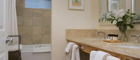 View of Davis Cup bathroom