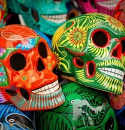 Murphys California event, Day of the Dead sugar skulls.