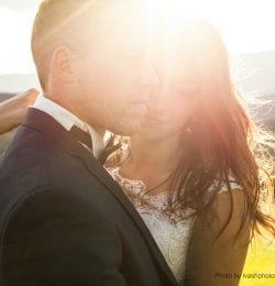 Best Wedding Venues in Murphys, CA Married Couple Embracing