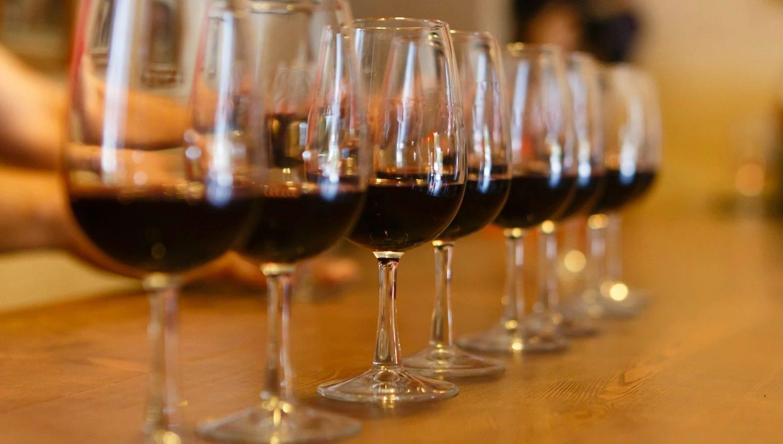 Lavender Ridge Vineyard wine glasses