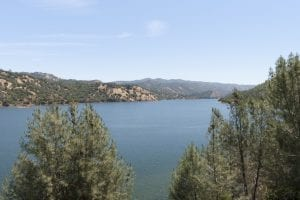 A view of New Melones lake in Central California. Photo take in late spring with a wide angle lens.