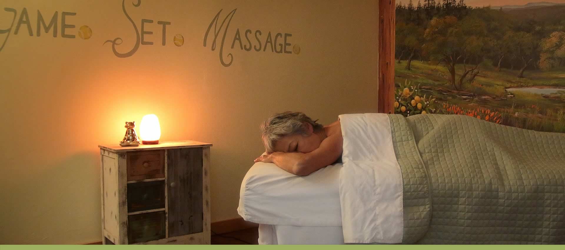 Courtwood Inn Spa Guest on Massage Table