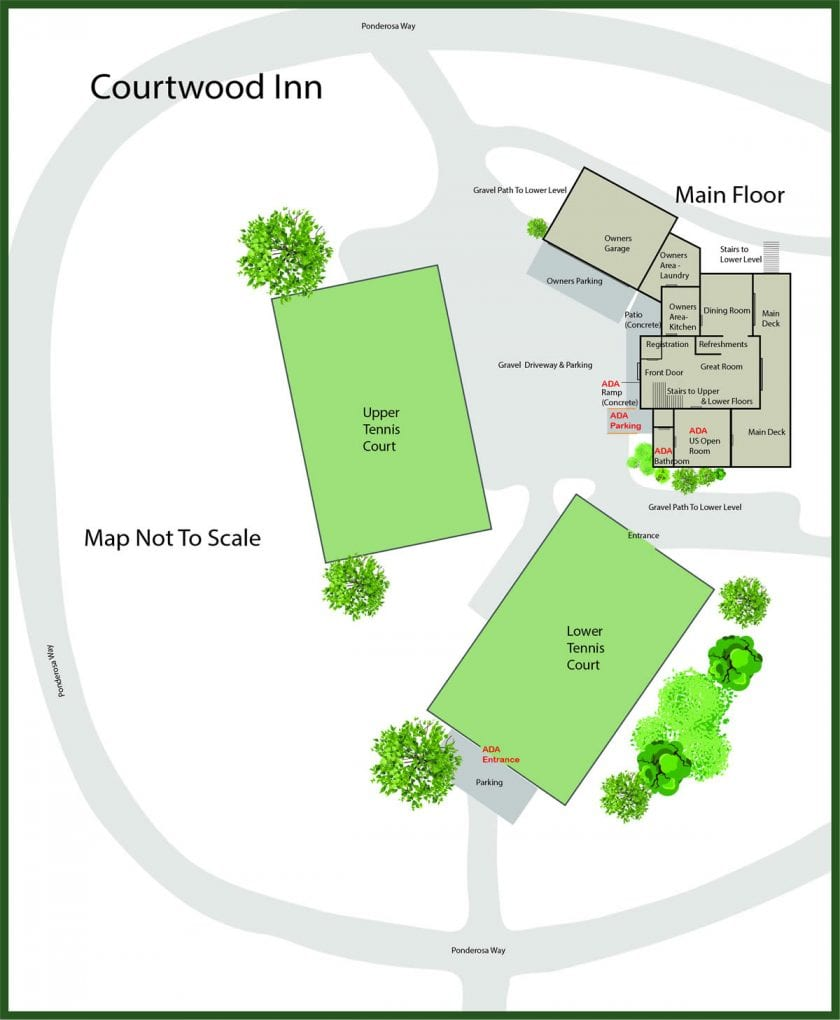 Courtwood Inn Parcel Property Map