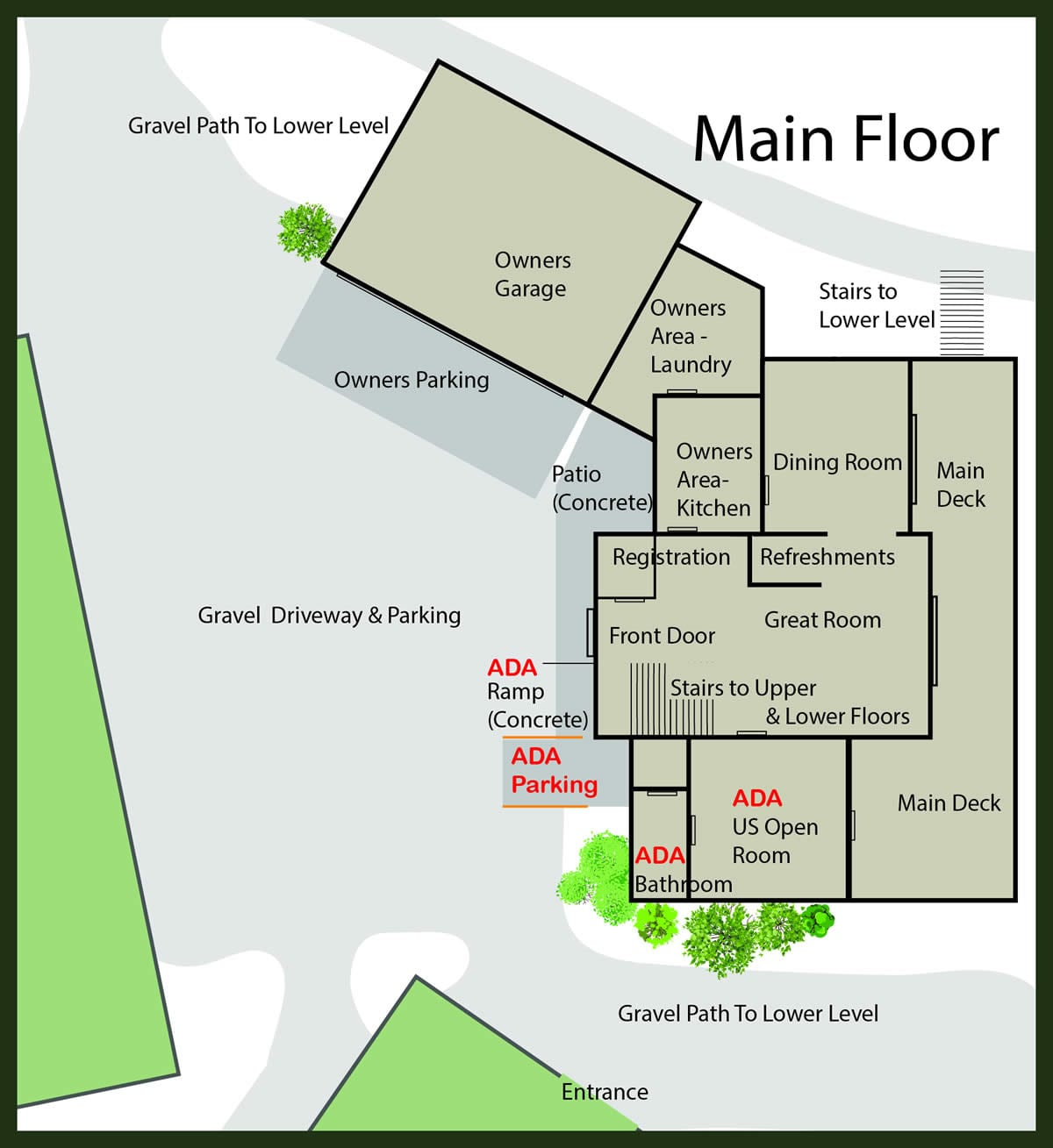 Courtwood Inn Property Map